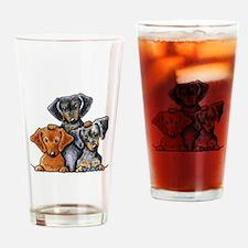 Doxie Trio Drinking Glass