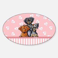 Doxie Trio Sticker (Oval)