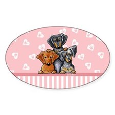 Doxie Trio Decal