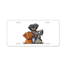Doxie Trio Aluminum License Plate