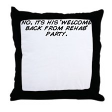 Cute Welcome back Throw Pillow