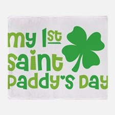 My 1st Saint Patricks Day Throw Blanket
