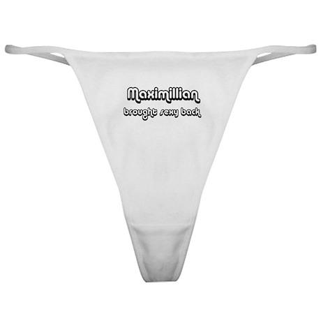 Sexy: Maximillian Classic Thong