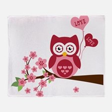 Owl LOVE Throw Blanket