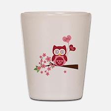 Owl LOVE Shot Glass