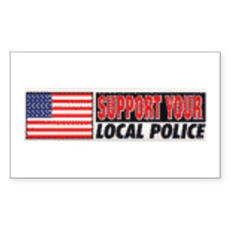 Support your local police Oval Sticker