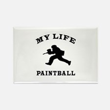 My Life Paintball Rectangle Magnet