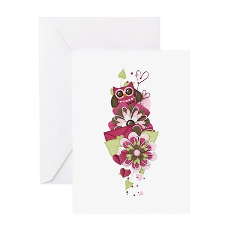 Owl Love Letters Greeting Card By ALittleBitOfThis1