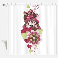 Owl Love Letters Shower Curtain