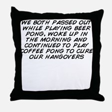 Cute We cure Throw Pillow