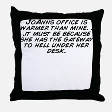 Unique Office hell Throw Pillow