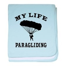 My Life Paragliding baby blanket