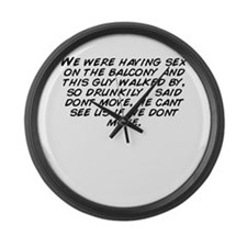 Cute Were moving Large Wall Clock