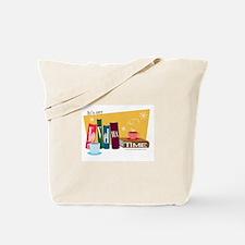 Cute Tea books Tote Bag