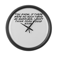 Funny You don%27t know Large Wall Clock