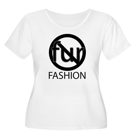 NoFurFashionwithoutcopyright.png Plus Size T-Shirt
