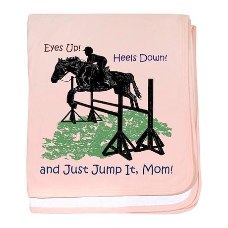 Fun Hunter/Jumper Equestrian Horse baby blanket