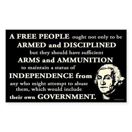 Washington Quote - A Free People Sticker (Rectangl