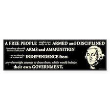 Washington Quote - A Free People Car Sticker