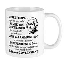 Washington Quote - A Free People Mug