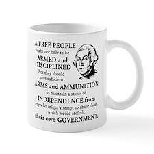 Washington Quote - A Free People Small Mug