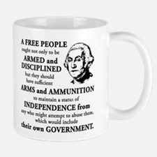Washington Quote - A Free People Small Small Mug