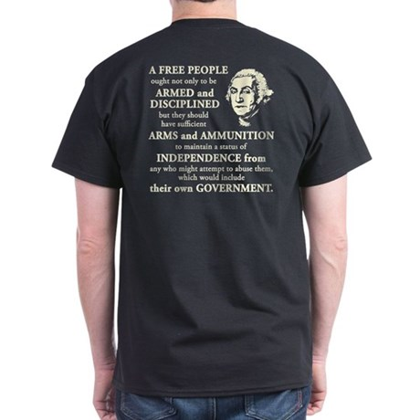 Washington Quote - A Free People Dark T-Shirt