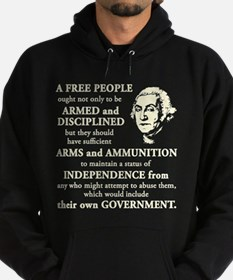 Washington Quote - A Free People Hoodie (dark)