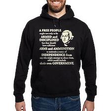 Washington Quote - A Free People Hoody