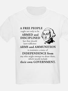 Washington Quote - A Free People T-Shirt