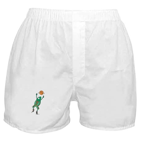 Cute Frog Basketball Player Boxer Shorts