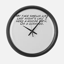 Cute Corndog Large Wall Clock