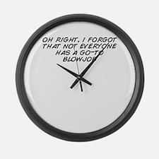Cute Blowjob Large Wall Clock