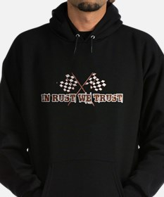 In rust we trust with chequered flag Hoodie (dark)
