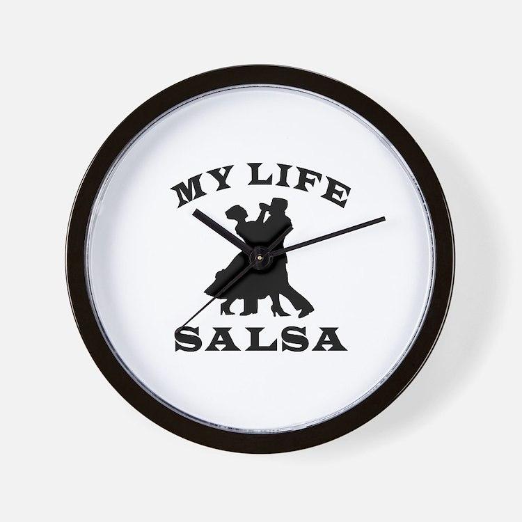 My Life Salsa Wall Clock