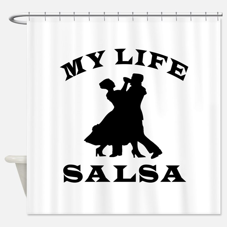 My Life Salsa Shower Curtain