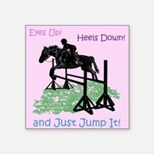 Fun Hunter/Jumper Equestrian Horse Sticker
