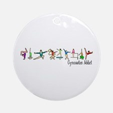 Gymnastics Addict Ornament (Round)