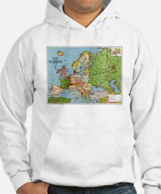 Map of Europe Hoodie