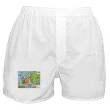 Map of Europe Boxer Shorts