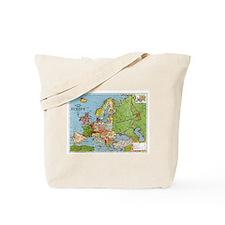 Map of Europe Tote Bag