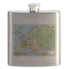 Map of Europe Flask