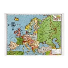Map of Europe 5'x7'Area Rug