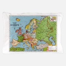 Map of Europe Pillow Case