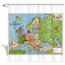 Map of Europe Shower Curtain