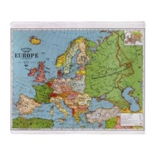 Map of Europe Throw Blanket