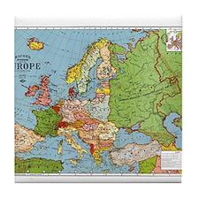 Map of Europe Tile Coaster