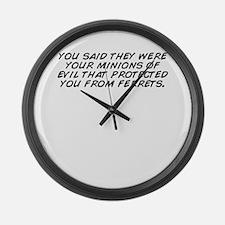 Cute Evil minion Large Wall Clock
