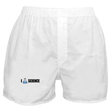 I Love Science Boxer Shorts