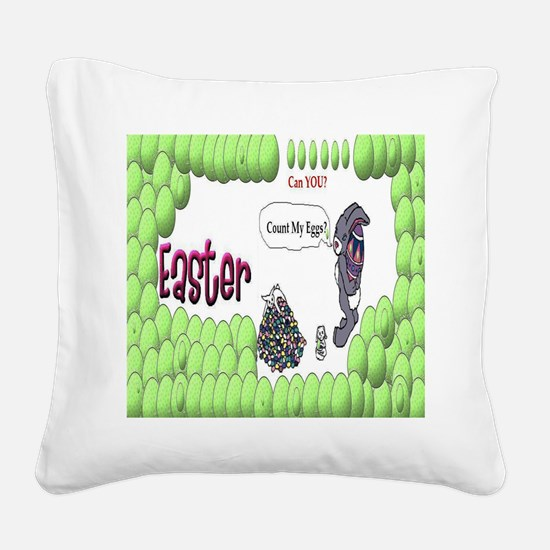 Easter Bunny Square Canvas Pillow